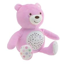Pelucia-Musical-e-Projetor---Urso-Bebe---Rosa---Chicco