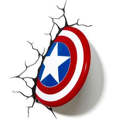 Luminaria-de-Parede---3D---Disney---Marvel---Avengers---Capitao-America---Beek-Geeks