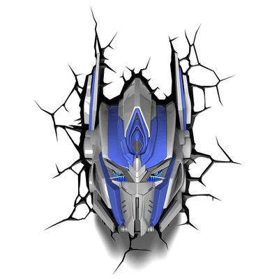 Luminaria-de-Parede---3D---Transformers---Optimus-Prime---Beeks-Geeks