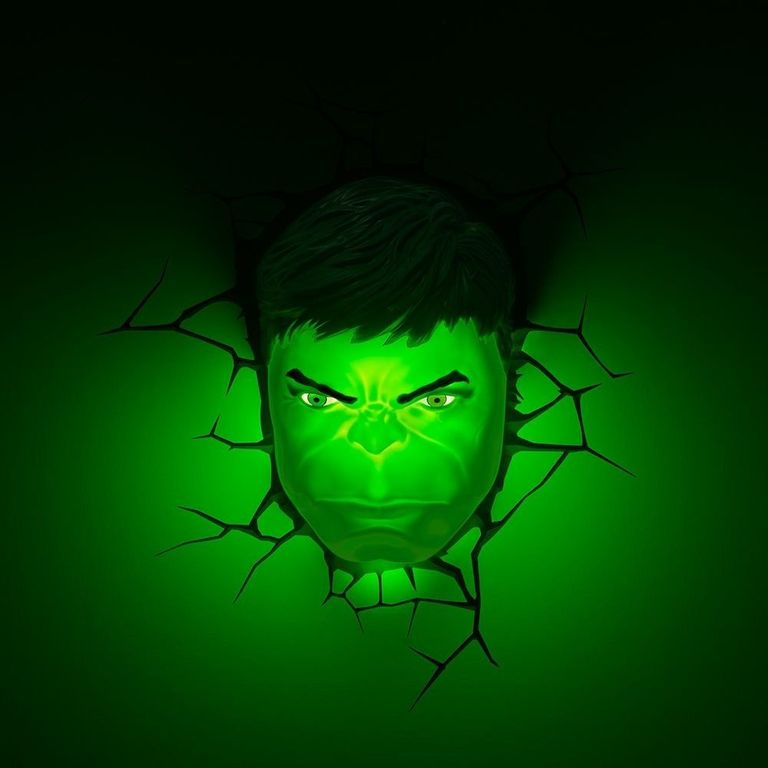 Luminaria De Parede 3d Disney Marvel Avengers Hulk