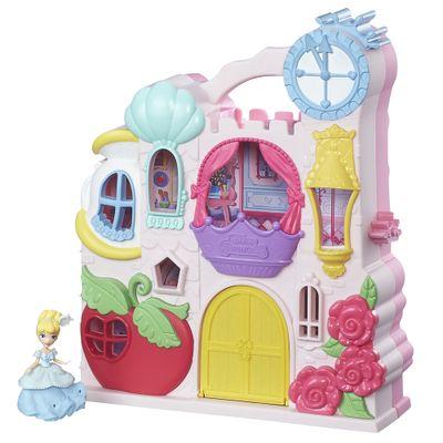 Playset com Figuras - Princesas Disney - Little Kingdom - Mini Castelo da Cinderela - Hasbro