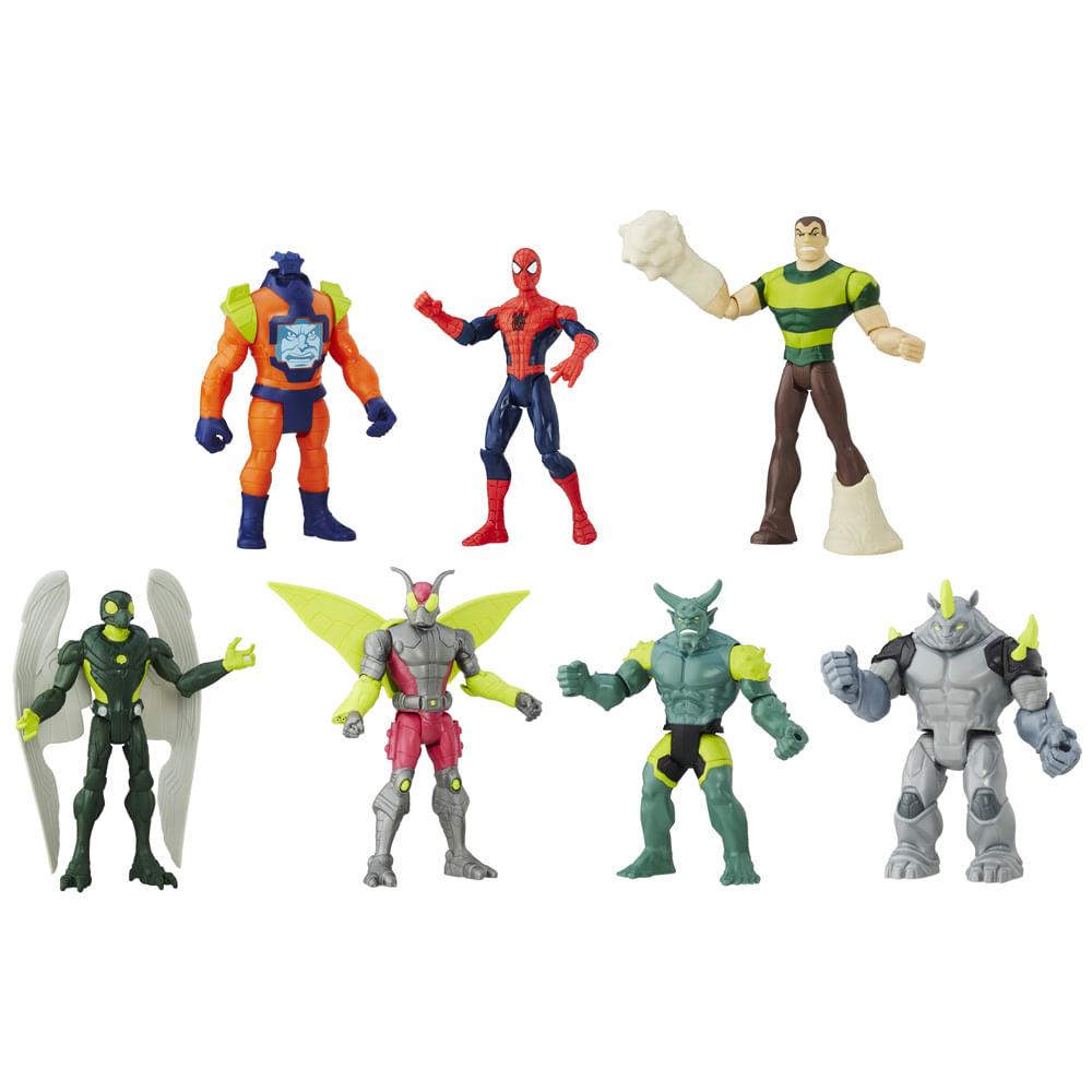 Conjunto com 7 Mini Figuras - Marvel - Ultimate Spider-Man Vs Sinister 6 - Hasbro