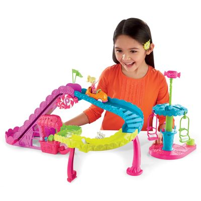 Playset-Polly-Pocket-Parque-de-Diversoes---Montanha-Russa---Mattel
