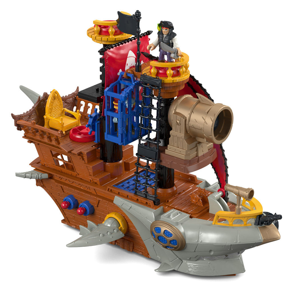 Imaginext - Navio Pirata Tubarão - Mattel
