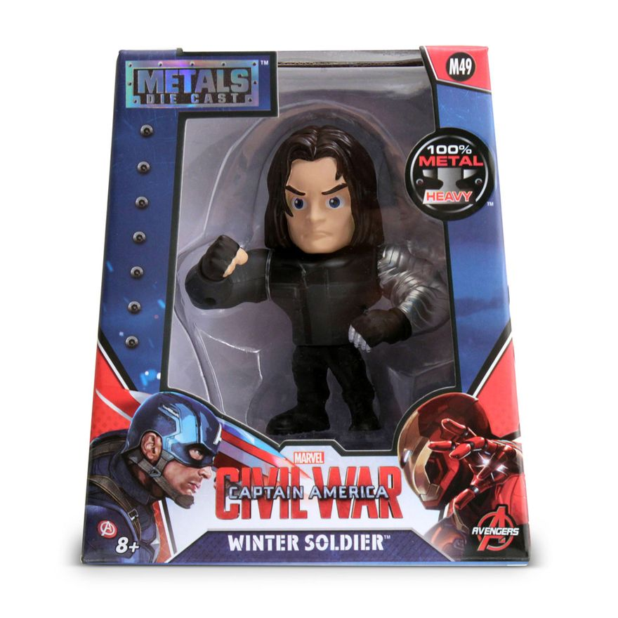 Figura-Colecionavel-10-Cm---Metals---Marvel---Civil-War---Bucky---DTC