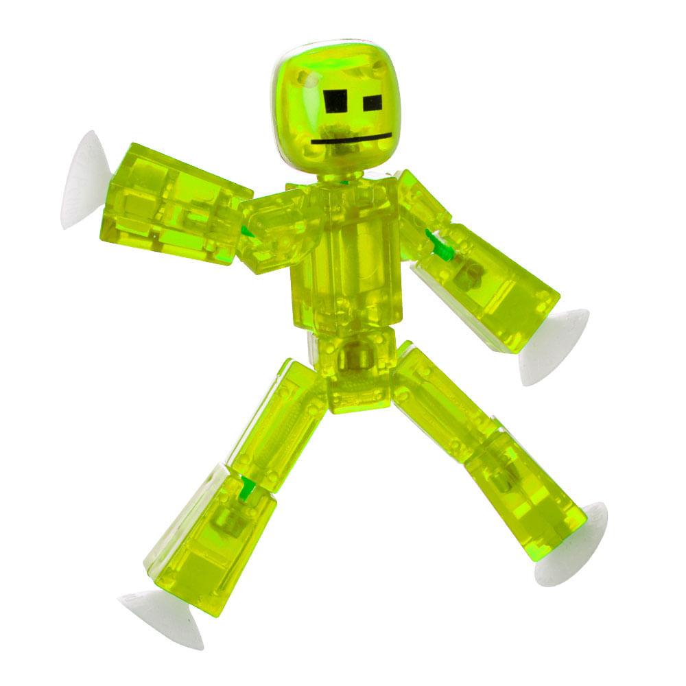 Mini Figura Articulada - 10 cm - Stikbot - Verde Claro - Estrela