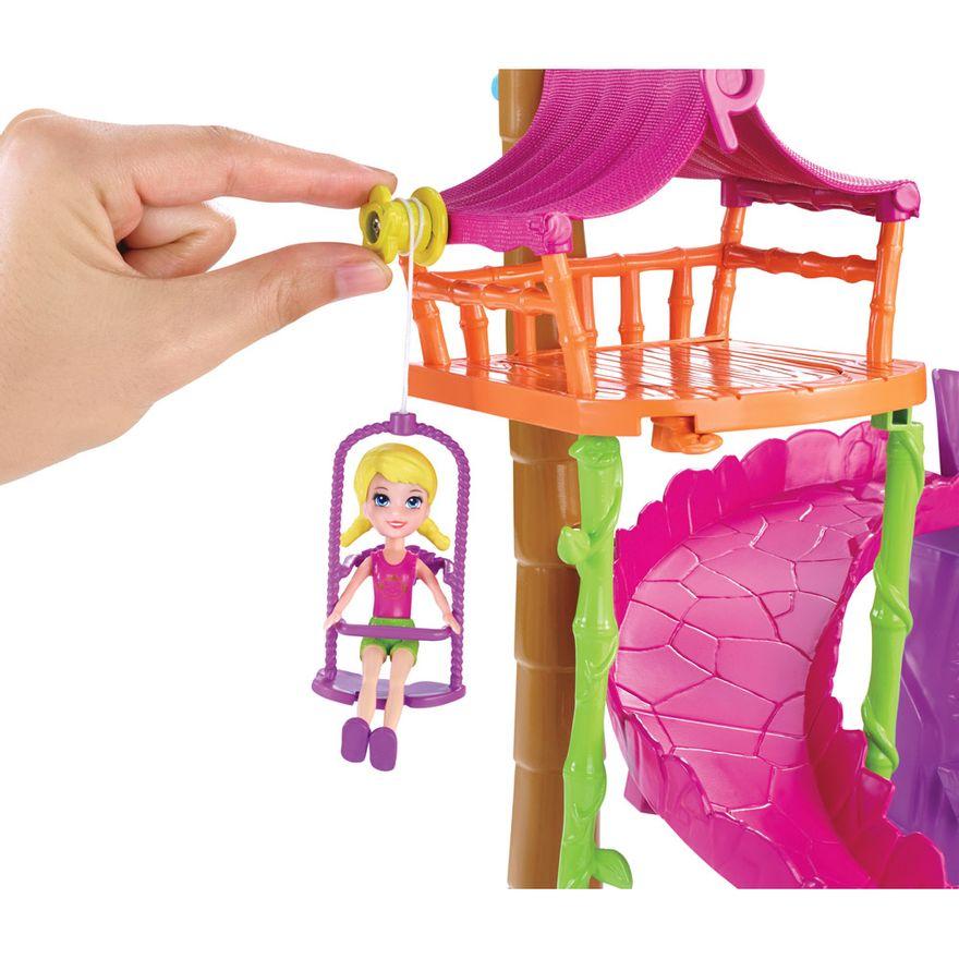 Playset-Polly-Pocket---Tirolesa-na-Floresta---Mattel
