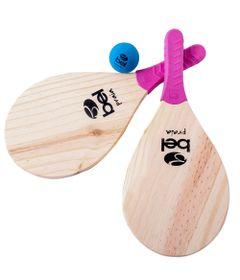 Conjunto-de-Frescobol---Raquetes-Pink-e-Bolinha-Colorida---Bell-Fix