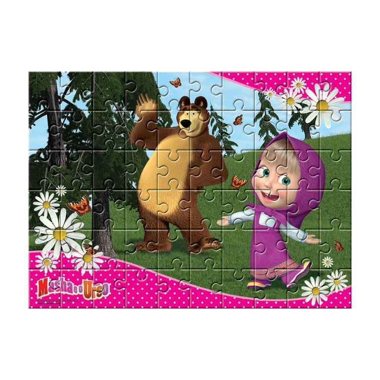 Quebra Cabeca Masha E O Urso 60 Pecas Estrela Ri Happy