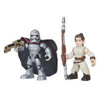 Boneco-Star-Wars---Playskool---Rey-e-Captain-Phasma---Hasbro---Disney