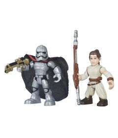 Boneco-Star-Wars---Playskool---Rey-e-Captain-Phasma---Hasbro---Disney