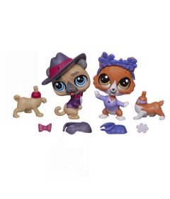 Mini-Bonecas-Littlest-Pet-Shop---Amigos-Fashions---Buster-Howe-e-Wagger-Hobbs---Hasbro
