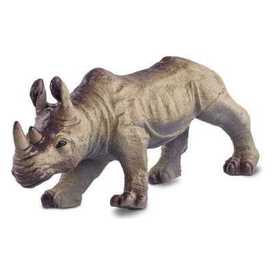 Figura-de-Animal---12-cm---Bicho-Mundi---Animais-da-Selva---Rinoceronte---DTC
