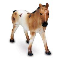 Figura-de-Cavalo---15-cm---Bicho-Mundi---Cavalos---Marrom-e-Branco---DTC