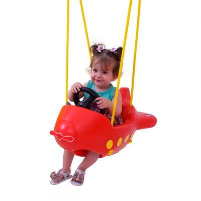 Balanco-Infantil---Aviao-Vermelho---Xalingo