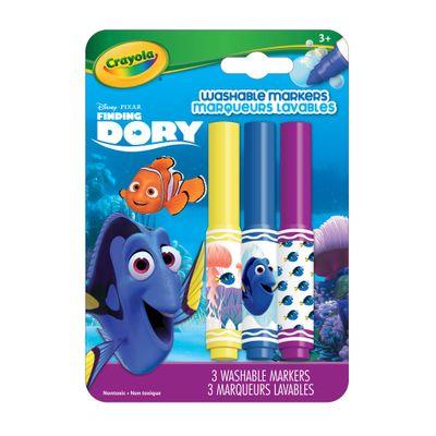 Conjunto-de-Canetinhas---3-cores---Procurando-Dory---Dory---Crayola