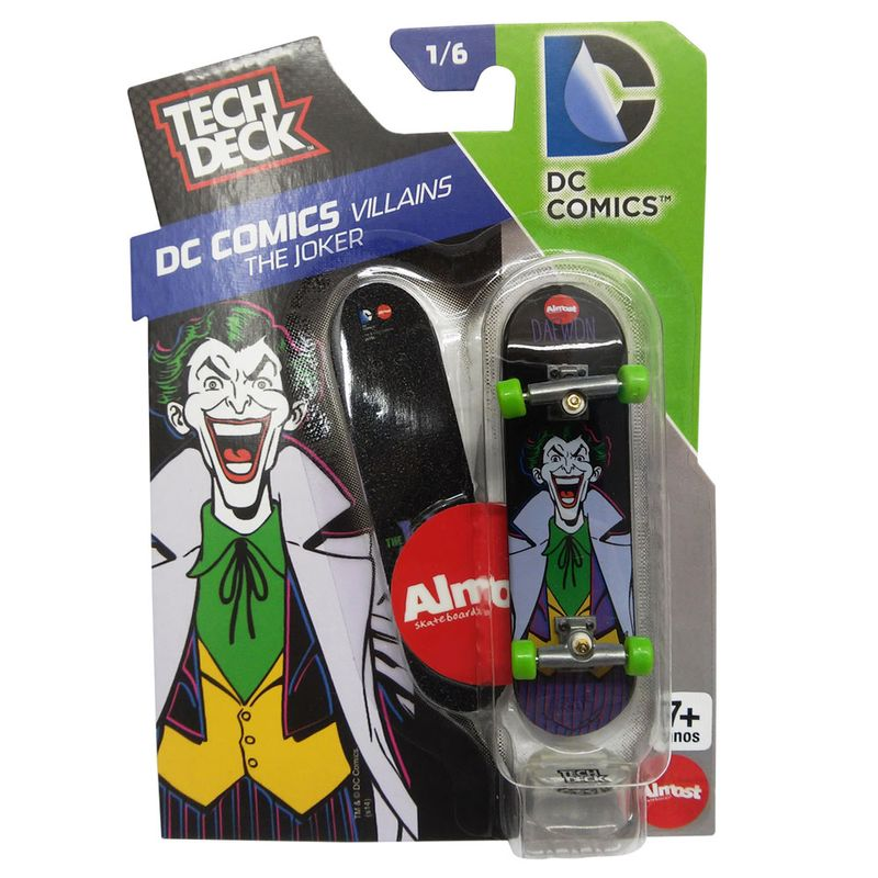 Skate de Dedo Tech Deck - DC Comics - The Joker - 1 6 - Multikids ... 0156c93b62f80