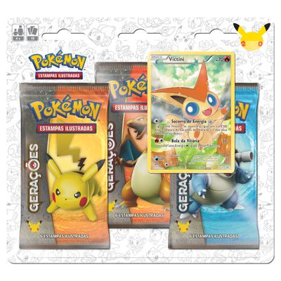 Deck-Pokemon---Blister-com-3-Unidades---Pokemon-Geracoes---Victini---Copag