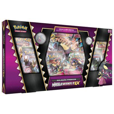 Jogo-Deluxe---Box-Pokemon---Colecao-Premium---Mega-Mawile-EX---Copag