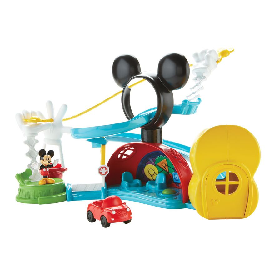 Playset-e-Figuras---A-Casa-do-Mickey-Mouse---Escorregador-do-Mickey---Fisher-Price-DMC67-frente