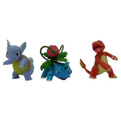 Mini-Figuras-Pokemon---3-unidades---Ivysaur-Charmeleon-e-Wartortle---Tomy