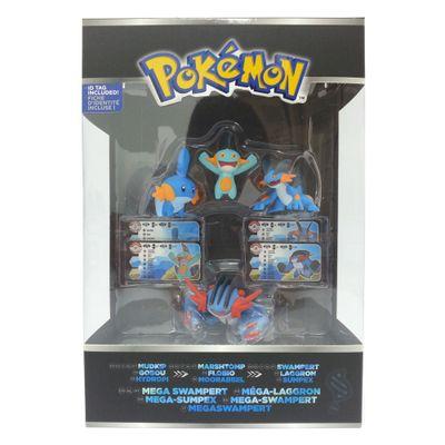 Mini-Figuras-Pokemon---4-unidades---Terceira-Geracao---Mega-Swampert---Tomy