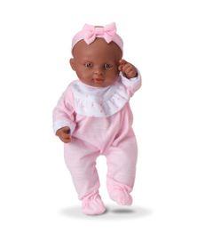 Boneca---Micro-Bebe-Mania---Pequenas-Amigas---Macacao-Rosa-e-Branco---Roma-Jensen-5351-frente