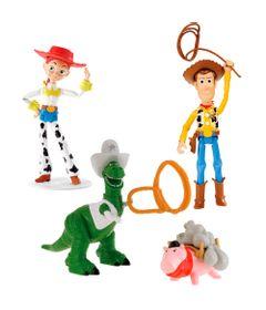 Kit-3-Figuras-Basicas---Disney-Pixar---Toy-Story---Woody-Jesse--Rex-Xerife-com-Pig-Ladrao---Mattel