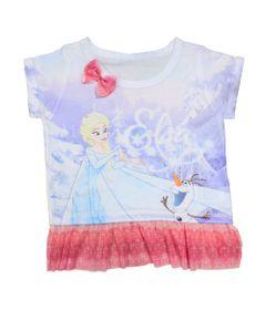 Blusa-Manga-Curta-com-Tule---Branca---Frozen---Disney---1