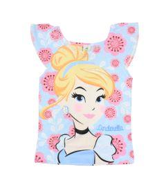 Blusa-Manga-Curta---Azul---Cinderela---Princesas---Disney---1