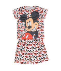 Pijama-Camiseta-Manga-Curta-e-Bermuda---Branco---Mickey---Disney---P