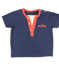 Camiseta-Manga-Curta-em-Meia-Malha---Marinho---Mickey-Wave---Disney---P