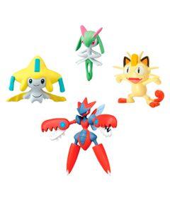 Mini-Figuras-Pokemon---4-unidades---Mega-Scizor-Jirachi-Meowth-Kirlia---Tomy