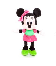 Pelucia-Personagens-Disney---25-CM---Mickey-Mouse-Clubhouse---Minnie-Vestido-Verde---Estrela