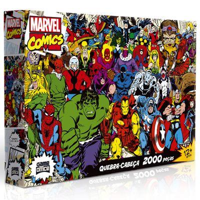 Quebra-Cabeca---2000-Pecas---Disney---Marvel---Herois-e-Viloes---Toyster