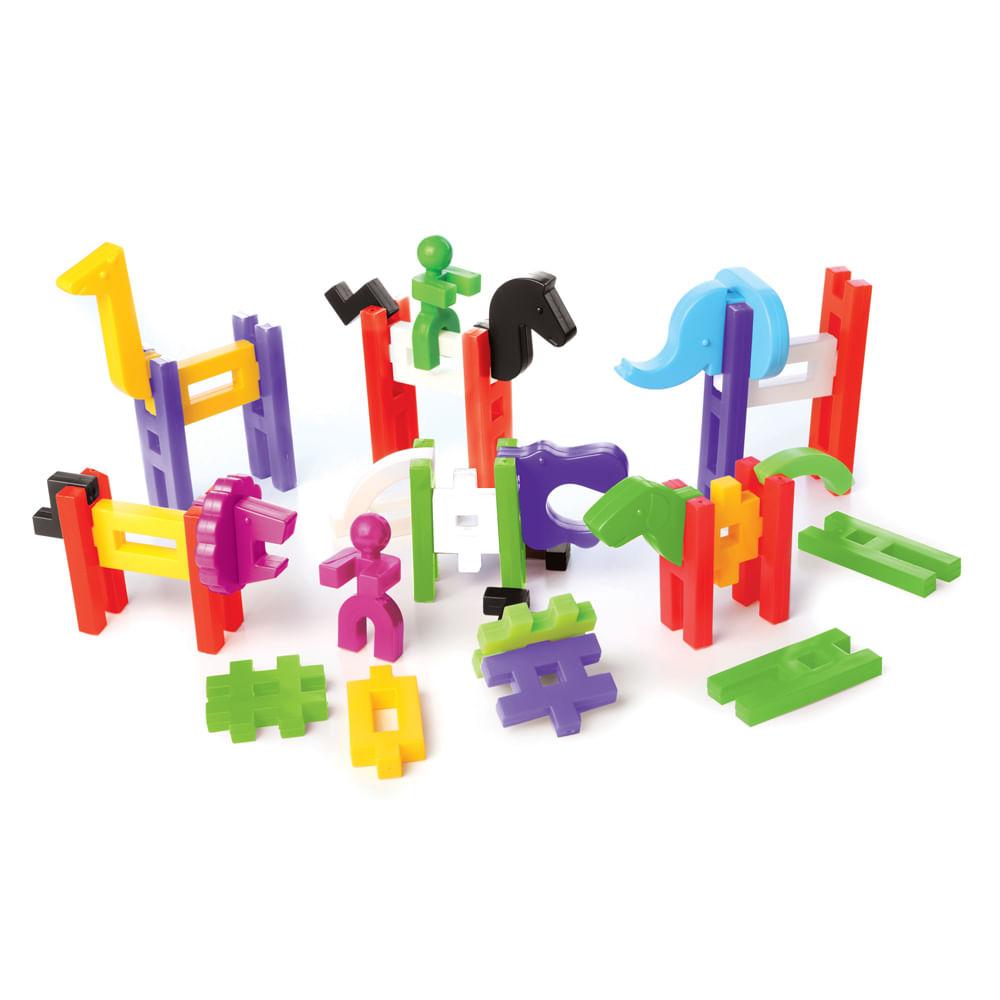 Brinquedo de Montar Big Block Zoológico - Estrela Baby