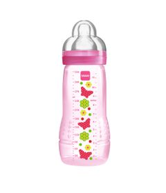 Mamadeira-Fashion-Bottle-Grils-330-ml---Rosa---Borboletas---MAM