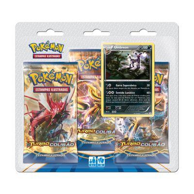 Deck-Pokemon---Blister-com-3-Unidades---Pokemon-Turbo-Colisao---Umbreon---Copag-97344-frente