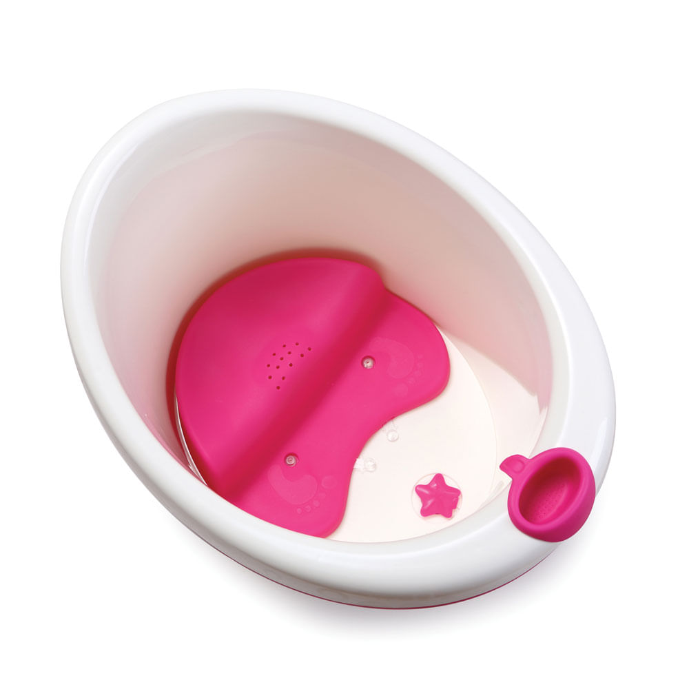 Banheira Com Assento - Bubbles - Rosa - Safety 1st