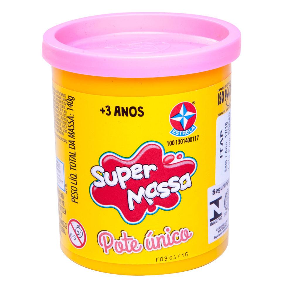 Massa de Modelar - Super Massa - Pote Único 112 Grs - Rosa - Estrela