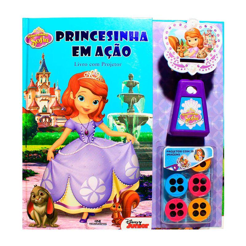 livro com projetor disney princesinha sofia em ação