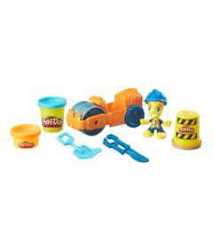 Conjunto-Massa-de-Modelar---Figura-e-Veiculo---Play-Doh-Town---Rolo-Compressor---Hasbro-B6282-frente