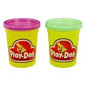 Massa-de-Modelar---Retro---Play-Doh---Pack-com-2-Potes---Roxo-e-Verde---Hasbro-B8926-frente