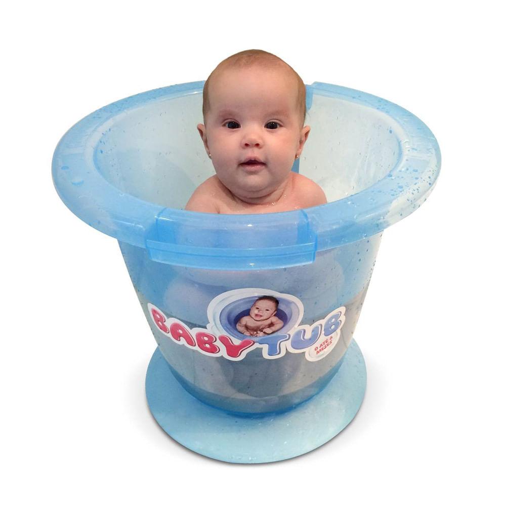 Banheira Babytub - De 0 a 6 Meses - Azul - Baby Tub