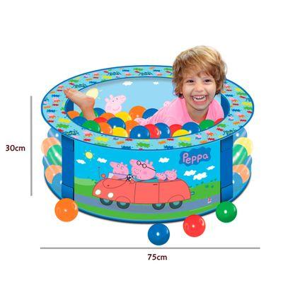 Piscina de bolinhas 75cm x 30cm peppa lider ri - Peppa pig piscina ...