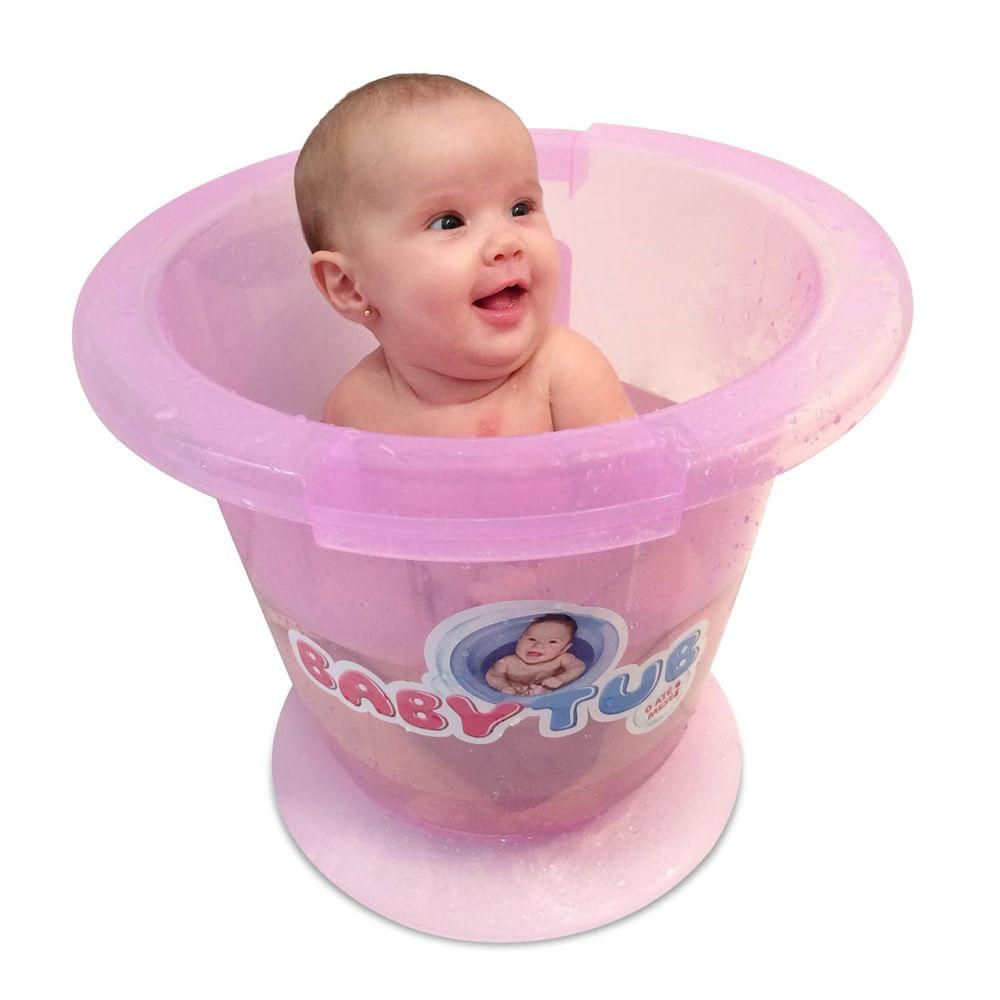 Banheira Babytub - De 0 a 6 Meses - Rosa - Baby Tub