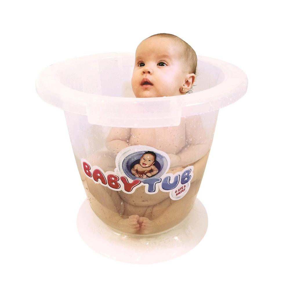 Banheira Babytub - De 0 a 6 Meses - Transparente - Baby Tub