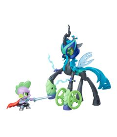 Figuras-My-Little-Pony---Bem-vs-Mal---Chrysalis-e-Spike---Hasbro-B6009-frente