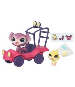 Mini-Boneca-com-Veiculo---Littlest-Pet-Shop---Passeios-na-Cidade---Bouncer-Eagerton-e-Quackie-Fairfeather---Hasbro