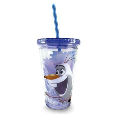 Copo-com-Canudo---Disney---Frozen---Olaf---Taimes
